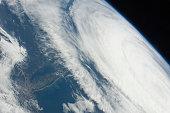 Hurricane Katia over the Atlantic Ocean off the northeastern USA coastline.