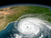 Hurricane Rita threatening the Texas and Louisiana coasts on September 23, 2005.