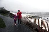 Hurricane Sandy hitting Staten Island, NY