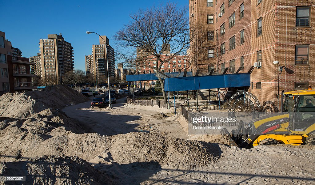 CONTENT] Hurricane Sandy Sand Piles in Coney Island