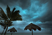 Hurricane Storm Season in Tropical Paradise