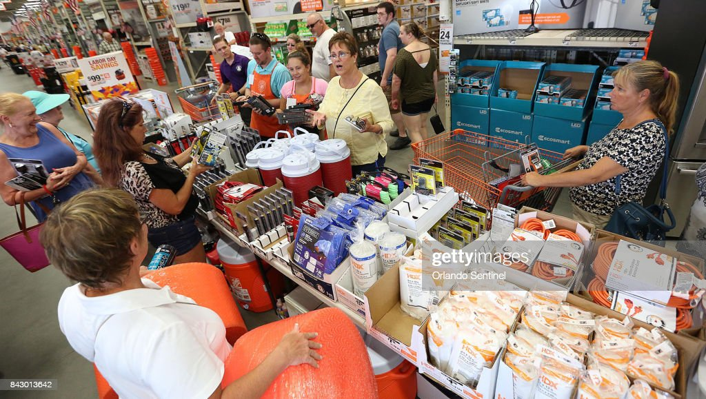Hurricane supplies are flying off the shelves at The Home Depot in Lady Lake on Tuesday afternoon, Sept. 5, 2017. Buyers are preparing for Hurricane Irma. The store was out of generators and water early Tuesday.