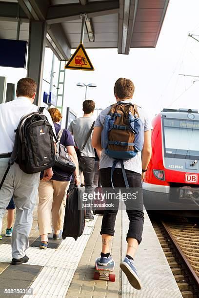 Hurry on platform