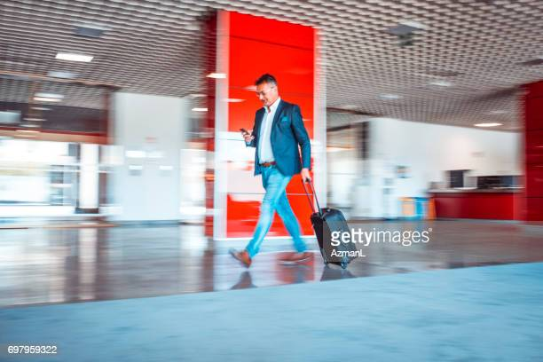 Hurrying to a meeting