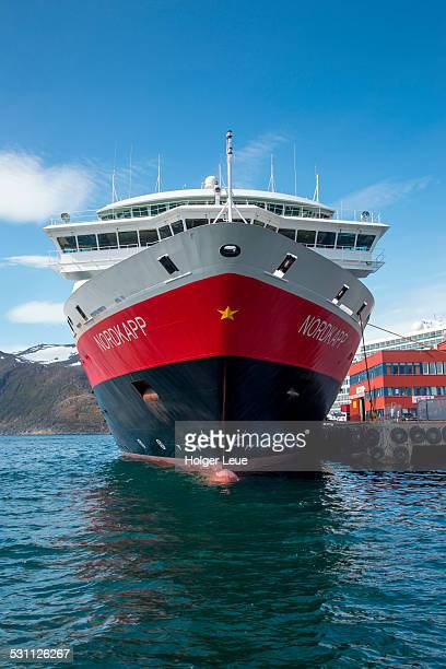 Hurtigruten ship Nordkapp at pier
