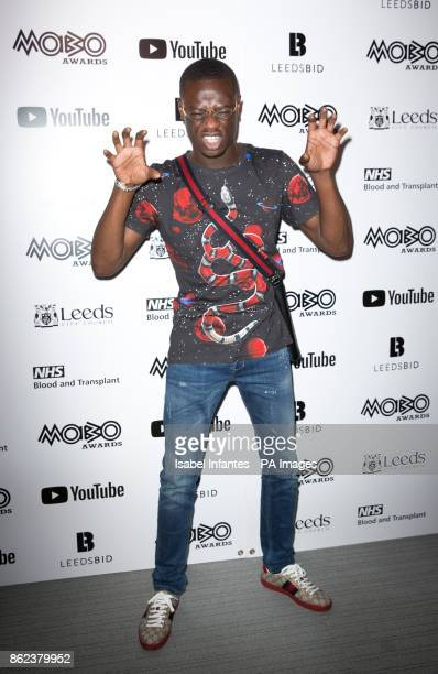 J Hus attending the Mobo Awards 2017 Nominations at the YouTube Space London
