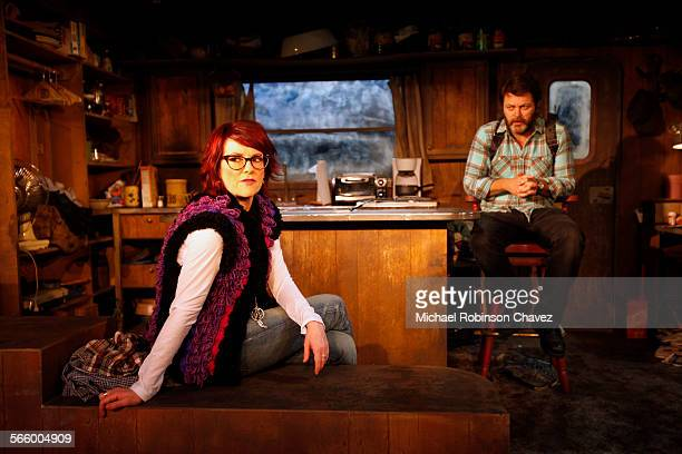 Husband and wife actors Nick Offerman and Megan Mullally are teamed together in a production of Annapurna at the Odyssey Theater in Los Angeles It is...