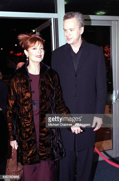 Husband and wife actress Susan Sarandon who stars in the film and Tim Robbins who directed it at the 43rd London Film Festival premiere gala...