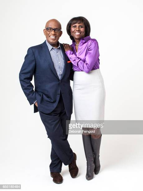 Husband and wife Al Roker and Deborah Roberts pose on February 5 2014 in New York City New York