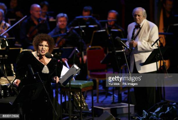 Husband and wife jazz musicians John Dankworth and Cleo Laine performing 'From Bards To Blues' as part of the 2007 BBC Proms Season at the Royal...