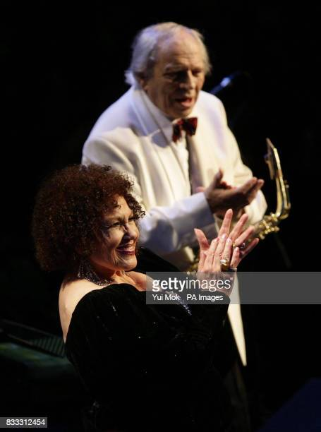 Husband and wife jazz musicians John Dankworth and Cleo Laine perform as part of the 2007 BBC Proms Season at the Royal Albert Hall central London