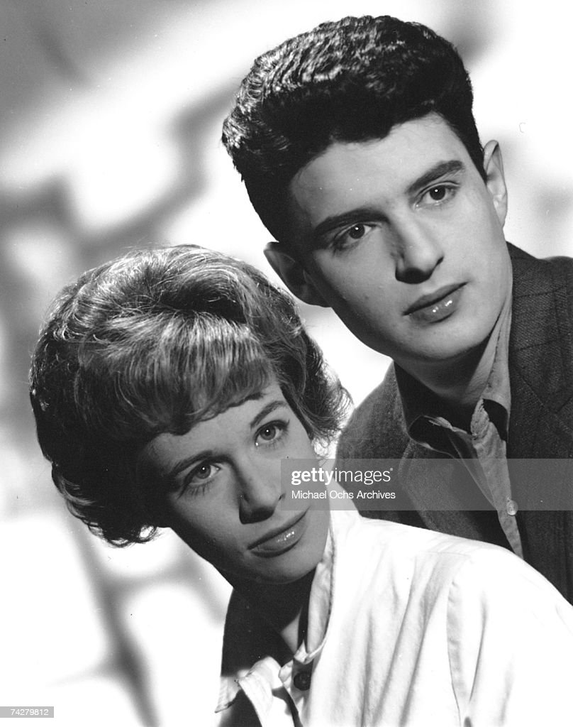 Husband and wife songwriting team Carole King and Gerry Goffin pose in an early promotional photo shot in New York New York circa 1959