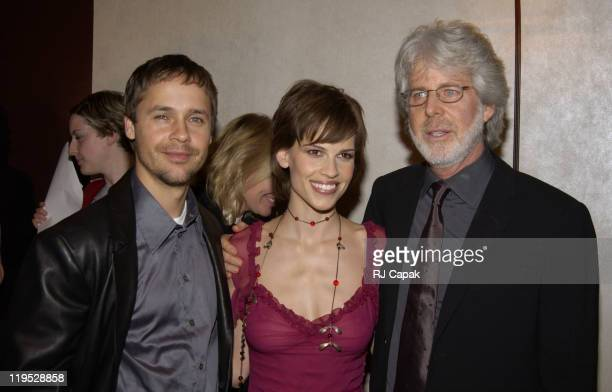 Husband Chad Lowe Hilary Swank with Director Charles Shyer