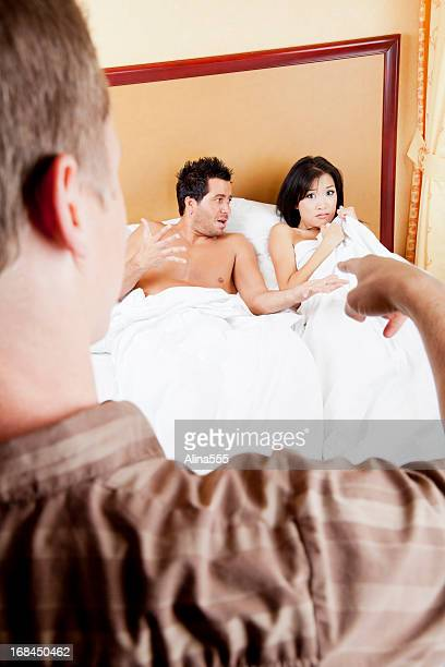 Husband finds his wife cheating