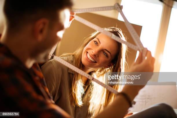 Husband having fun with his wife