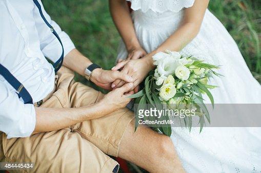 Husband hugging his wife