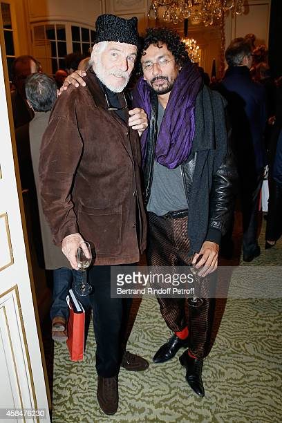 Husband of Loulou de la Falaise Thadee Klossowski de Rola and Fashion designer Haider Ackermann attend the 'Loulou de la Falaise' book signing Held...