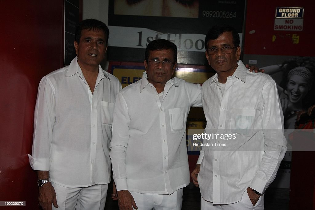 Hussain Burnwala with Abbas-Mastan during special Screening of upcoming movie Race 2 at PVR, Juhu on January 24, 2013 in Mumbai, India.