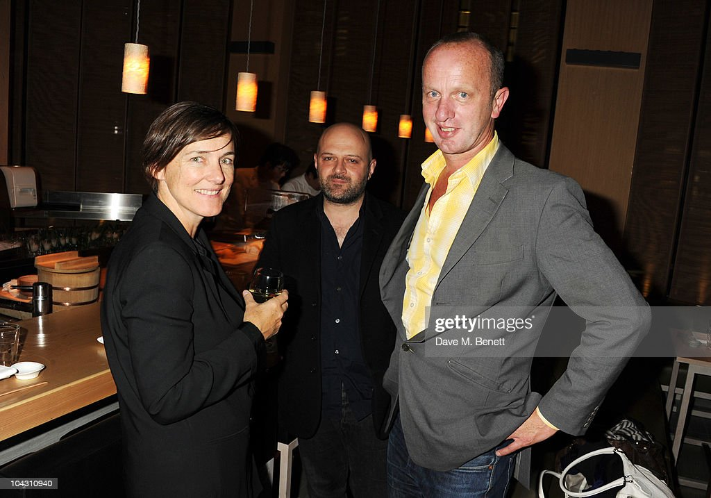 Hussein Chalayan and Johnnie Shand Kydd attend private dinner hosted by AnOther Magazine to celebrate the latest cover star Bjork at Sake No Hana on September 20, 2010 in London, England.
