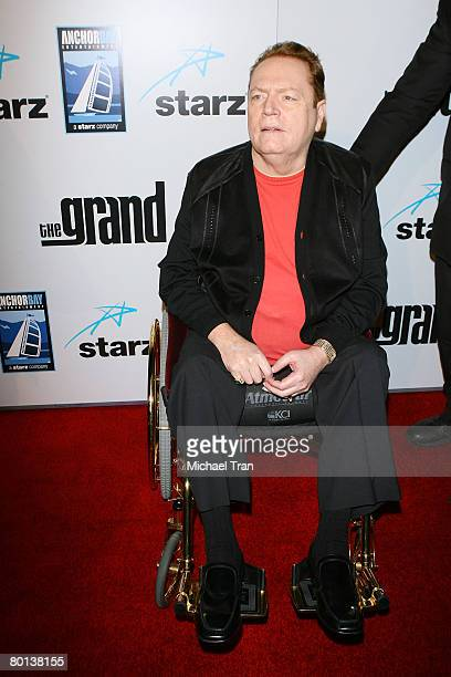 Hustler Magazine publisher Larry Flynt arrives at the Los Angeles premiere of Zak Penn's 'The Grand' held at the Arclight Cinerama Dome on March 5...