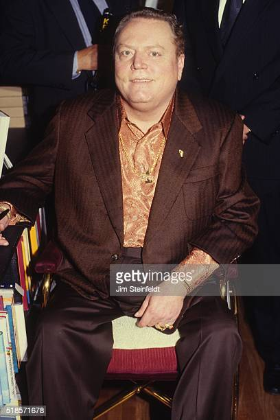 Hustler magazine publisher Larry Flynt poses for a portrait in Los Angeles California in 1997
