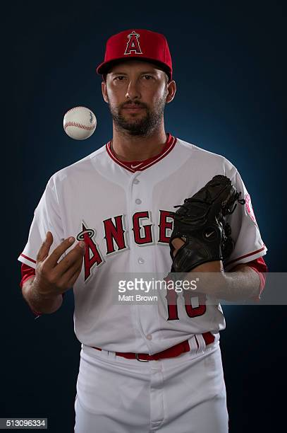 Huston Street of the Los Angeles Angels of Anaheim poses for a portrait during photo day at spring training on February 26 2016 at Tempe Diablo...