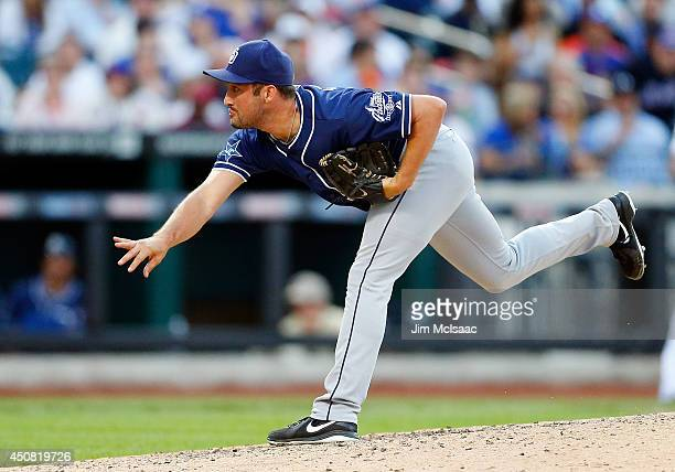 Huston Street of the San Diego Padres in action against the New York Mets at Citi Field on June 14 2014 in the Flushing neighborhood of the Queens...