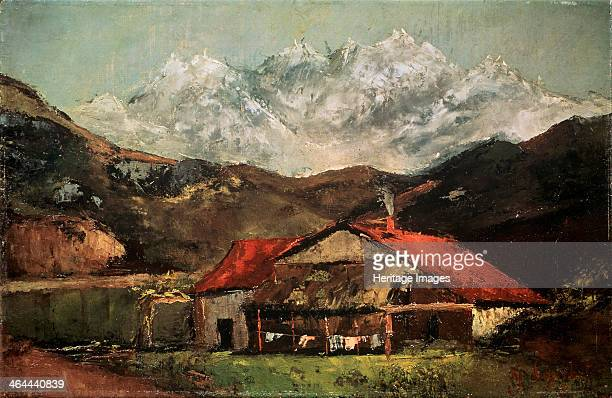 'A Hut in the Mountains' c1874 Courbet Gustave Found in the collection of the State A Pushkin Museum of Fine Arts Moscow