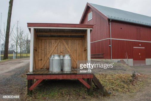 hut Mountain milk : Stock Photo