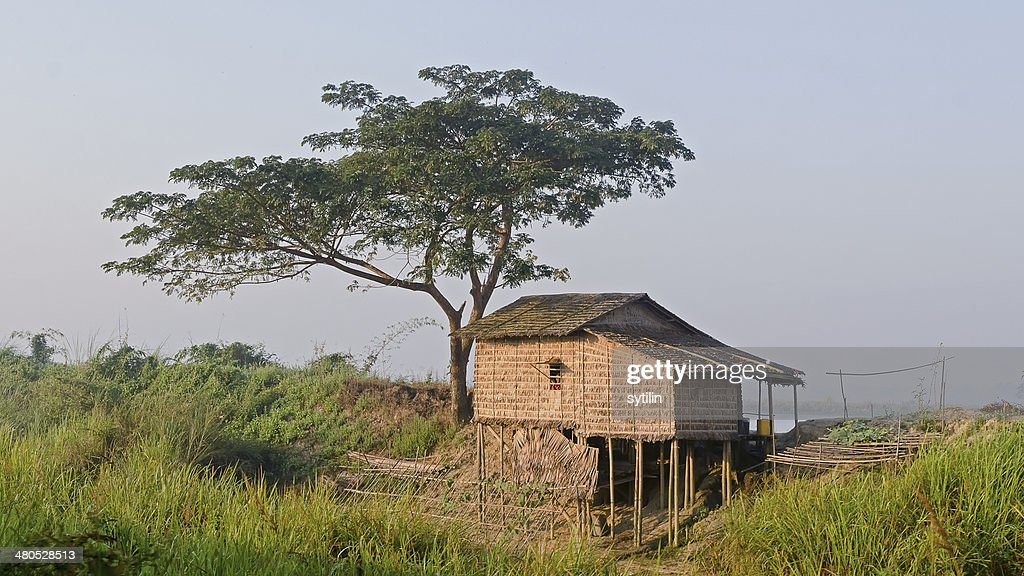 Hut on stilts : Stock Photo