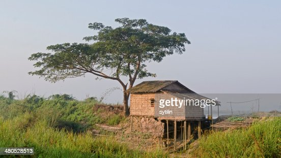 Hut on stilts : Stockfoto