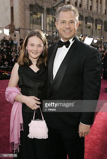 Hutch Parker of Fox and daughter Grace during The 77th Annual Academy Awards Executive Arrivals at Kodak Theatre in Hollywood California United States
