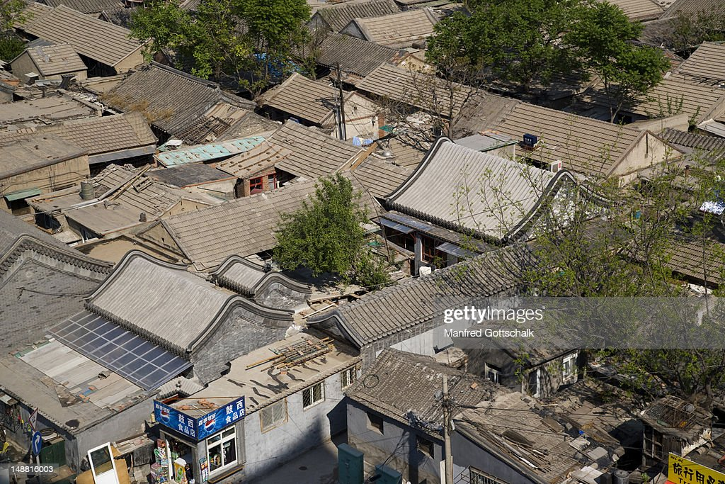 Hutong roofs from Drum Tower.