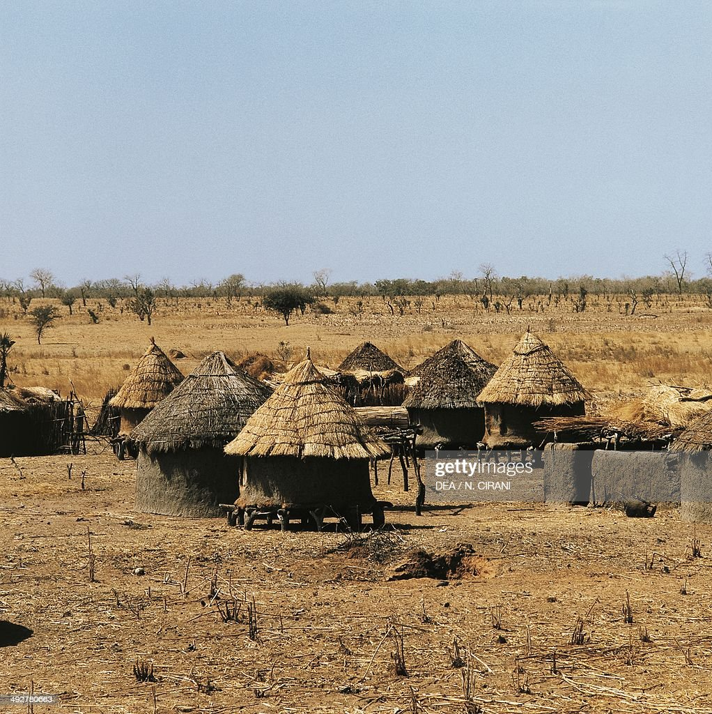 Huts in Sahel village Mali