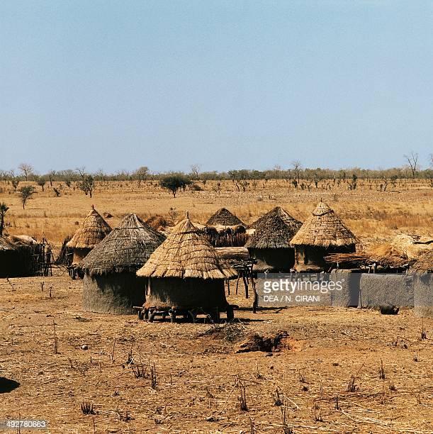 Huts in Sahel village Mali