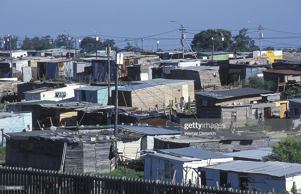 Huts in the township Nyanga, poverty, Cape Town, South Africa