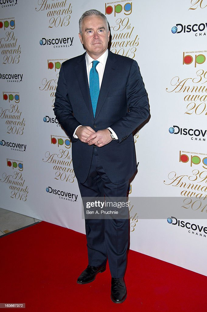 Huw Edwards attends the Broadcasting Press Guild TV and Radio awards on March 14, 2013 in London, England.