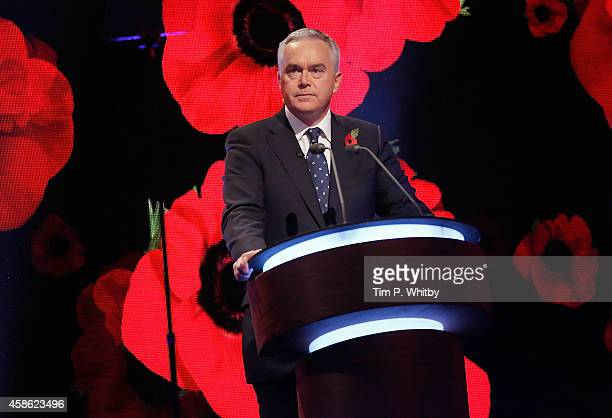 Huw Edwards on stage during The Royal British Legion's Festival of Remembrance matinee performance at Royal Albert Hall on November 8 2014 in London...
