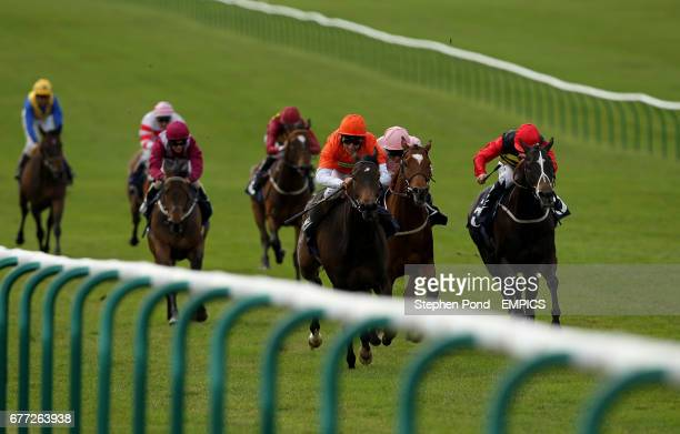 Huygens ridden by jockey Eddie Ahern wins the La Hogue Farm Shop and Cafe Handicap Stakes at Newmarket Racecourse