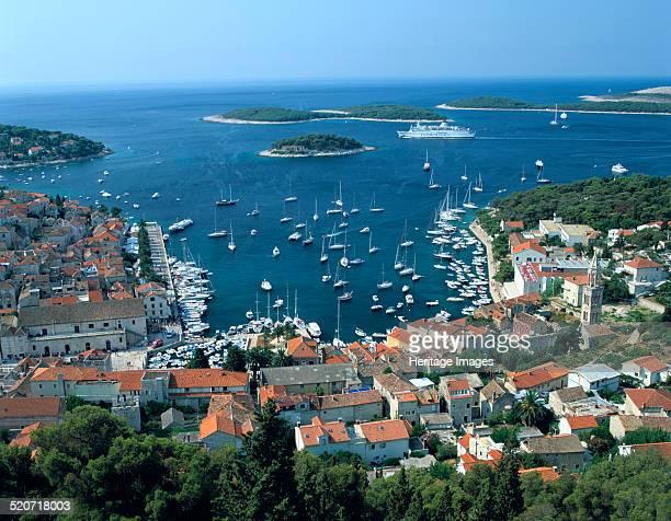 Hvar town and harbour Croatia