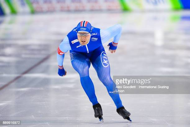 Hvard Holmefjord Lorentzen of Norway competes in the men's 1000 meter final during day 3 of the ISU World Cup Speed Skating event on December 10 2017...