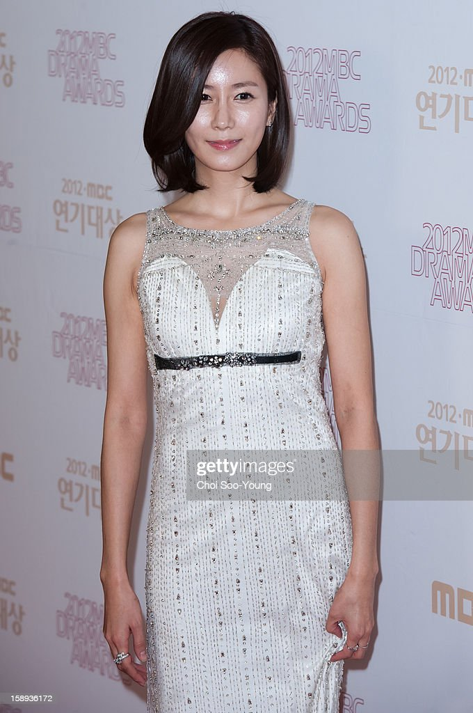 Hwang In-Young poses for photographs upon arrival during the 2012 MBC Drama Awards at MBC Open Hall on December 30, 2012 in Seoul, South Korea.