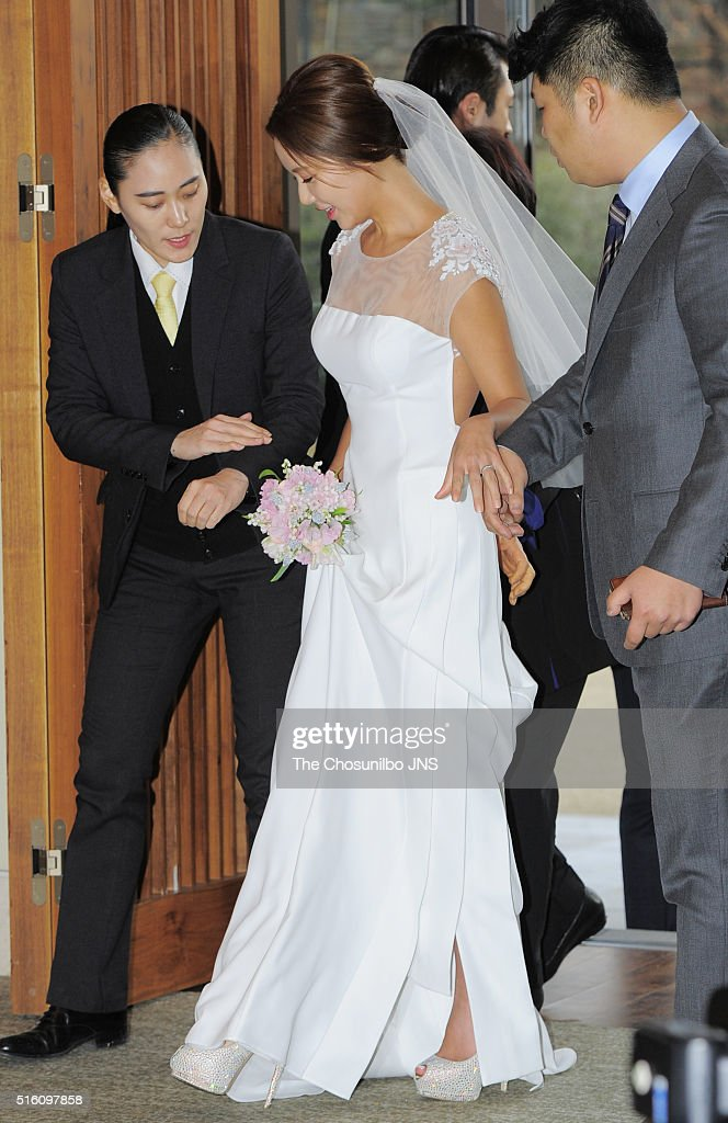 hwang jungeum wedding getty images