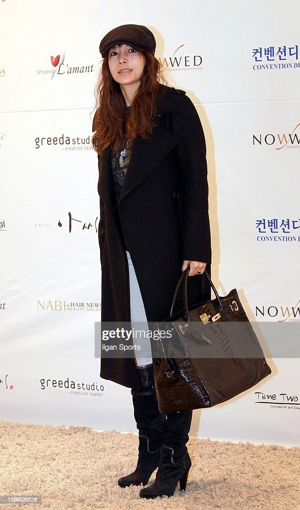 Hwang Shin-Hye attends Hong Rok-Gi's wedding at Convention diaMant on December 16, 2012 in Seoul, South Korea.