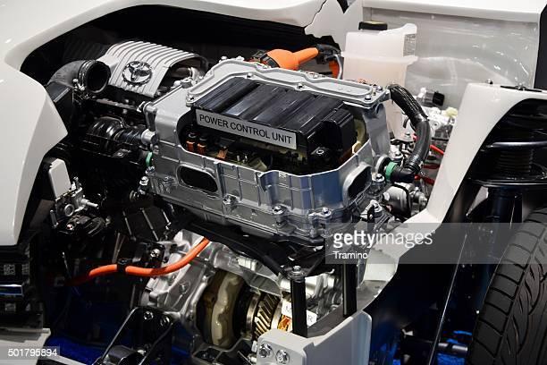 Hybrid engine in a car