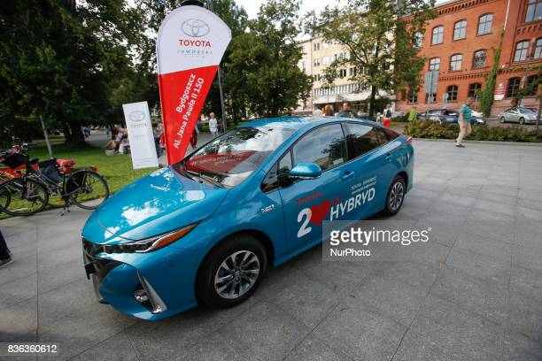 A hybrid Toyota car is seen on 20 August 2017