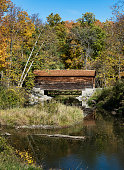 Hyde Hall covered bridge is the oldest existing covered bridge in the United States Glimmerglass State Park