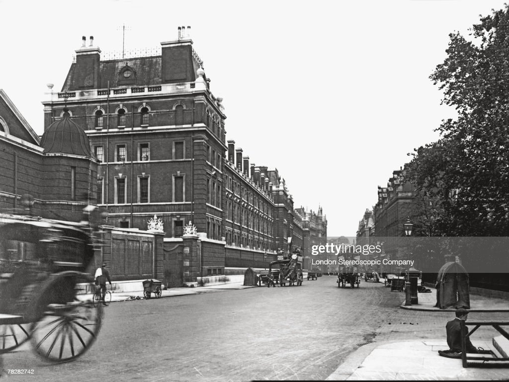 Hyde Park Barracks in Knightsbridge sometimes known informally as Knightsbridge Barracks circa 1895 Situated on the south side of Hyde Park the...