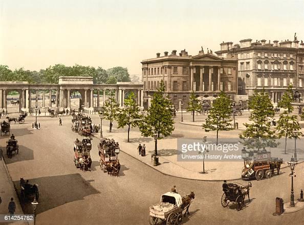 Hyde Park Corner London England UK Photochrome Print circa 1900