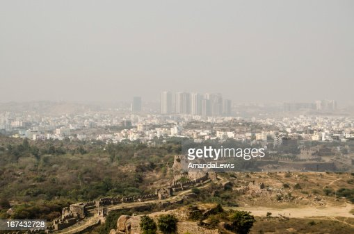 Hyderabad y HiTec a la ciudad : Foto de stock